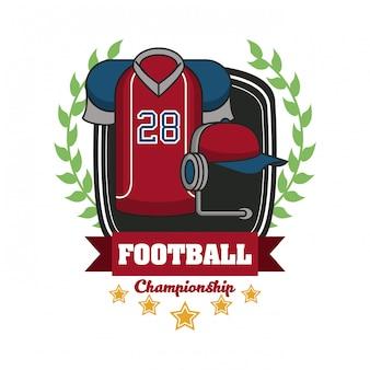 Football sport championship tournament emblem