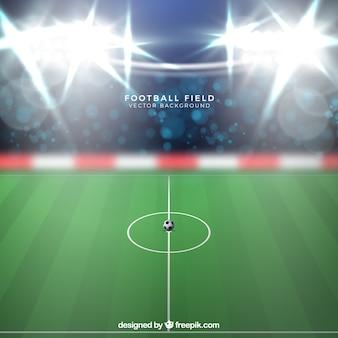 Фон футбольного стадиона в реалистичном стиле