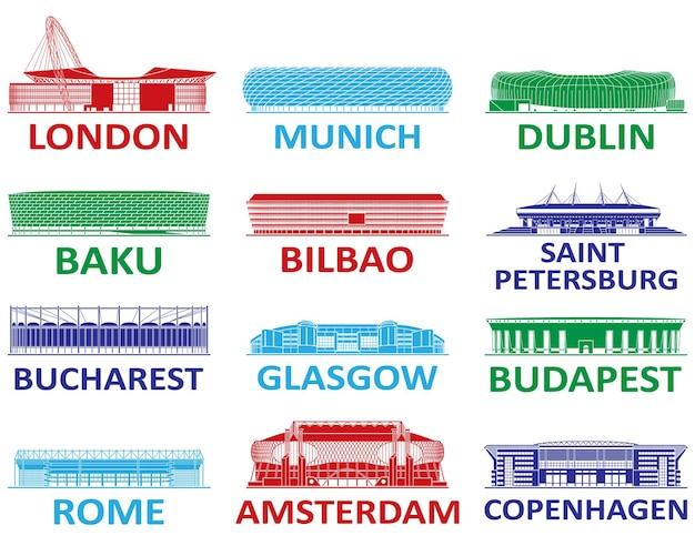 축구 경기장. 유럽 챔피언십 2020.