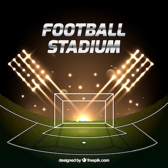 Football stadium in realistic style