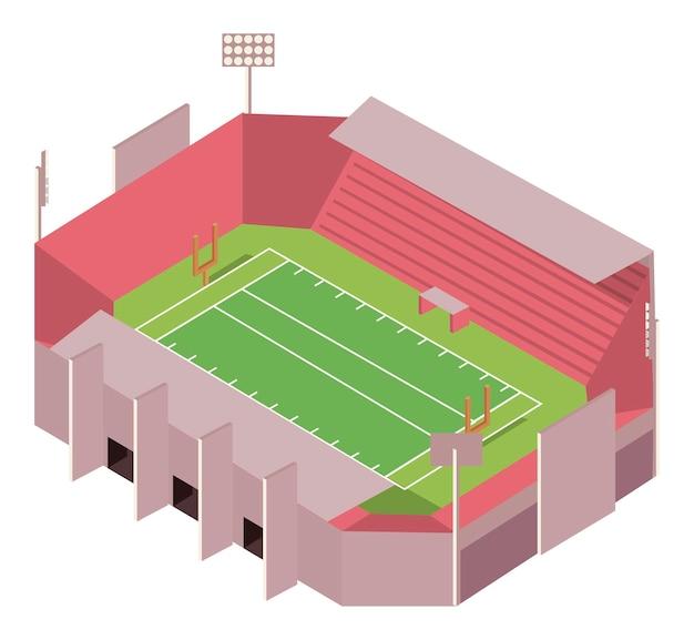 Футбольный стадион изометрии