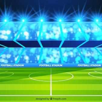 Football stadium in realistic style