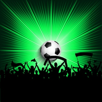 Football supporters background