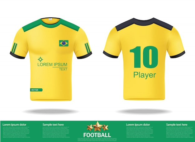 Football t-shirts design template for soccer
