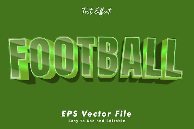サッカーのテキスト効果。編集可能で使いやすい。タイポグラフィ効果