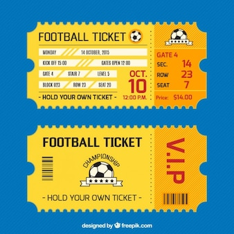 Football ticket card