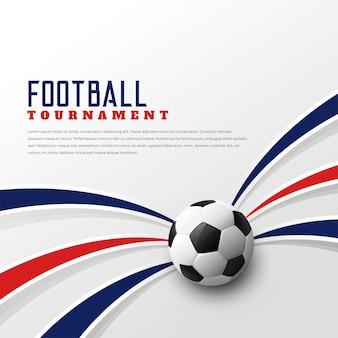 Football tournament background design template