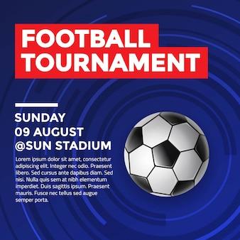 Football tournament flyer design