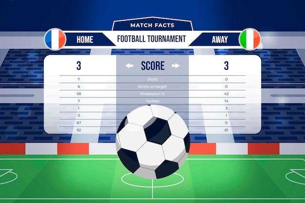 Football tournament illustration