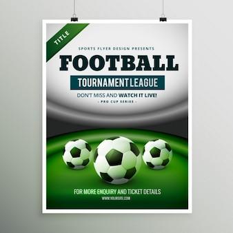 Torneo di calcio disegno league volantino
