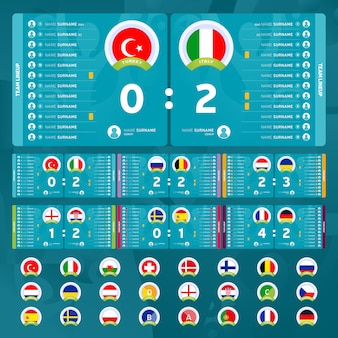 Football tournament stage groups and match