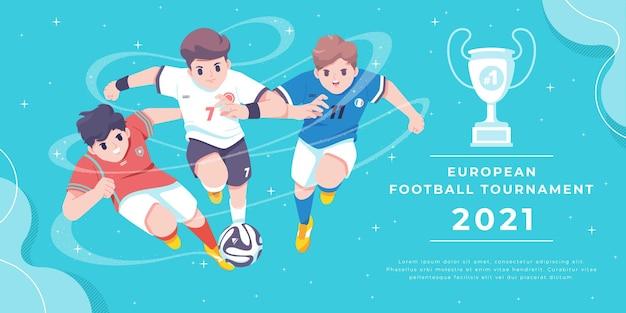 Football tournament wall chart and match schedule template design