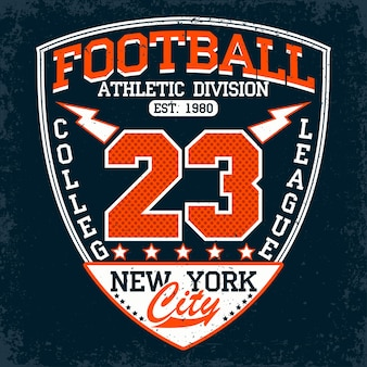 Football typography emblem, sports logo