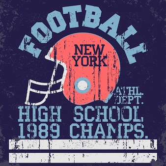 Football typography