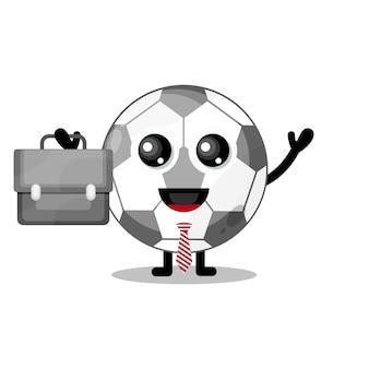 Футбол работает милый талисман персонажа
