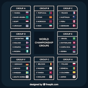 Football world championship with different teams