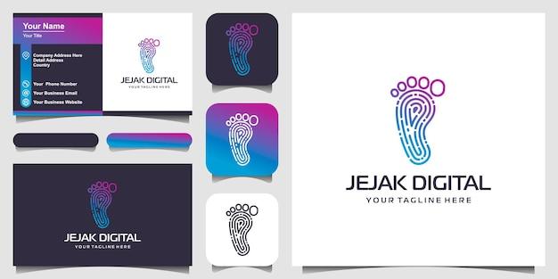 След цифровые современные технологии логотип дизайн вдохновение