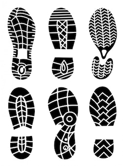 Footprint icons isolated on white