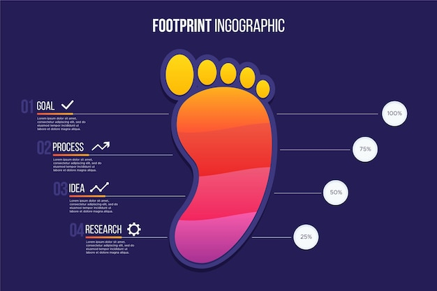 Footprint infographics template