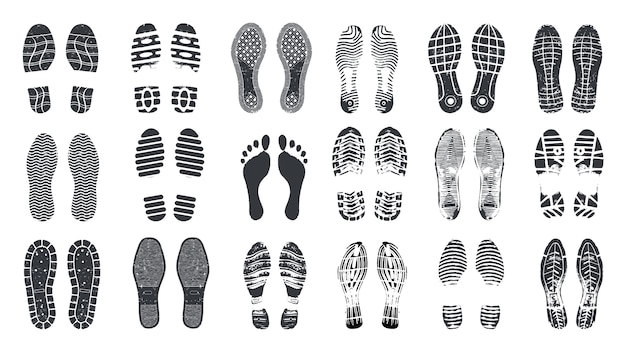 Footprint steps set