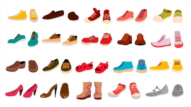 Набор обуви Premium векторы