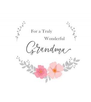 Для действительно замечательной бабушки. открытка для бабушки.
