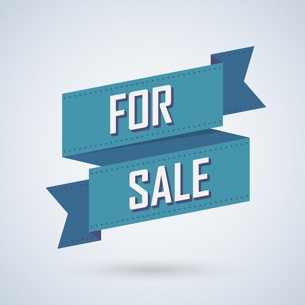 판매, 리본 일러스트와 함께 포스터를 제공