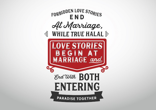 Forbidden love stories end at marriage lettering