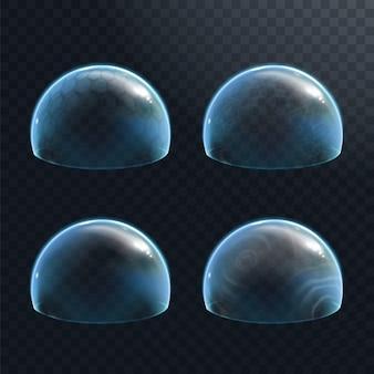 透明な背景の力場防衛エネルギーシールドまたはフォースバブル