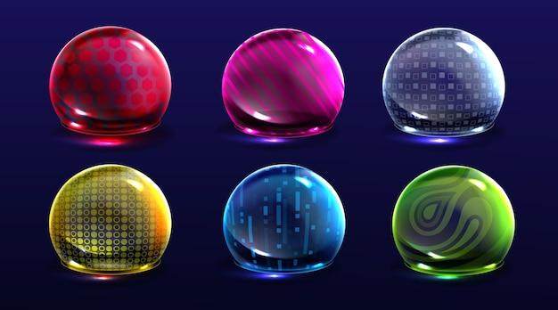 Force shield bubbles