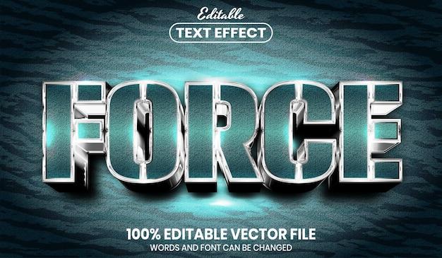 Принудительный текст, редактируемый текстовый эффект стиля шрифта