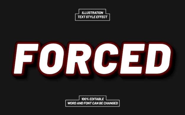 Forced 3d bold text style effect