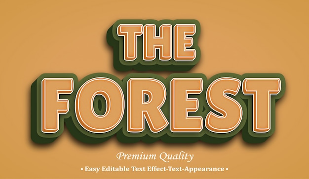 The forest 3d font style effect