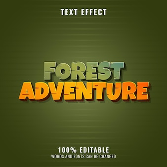 Forest adventure funny old text effect style