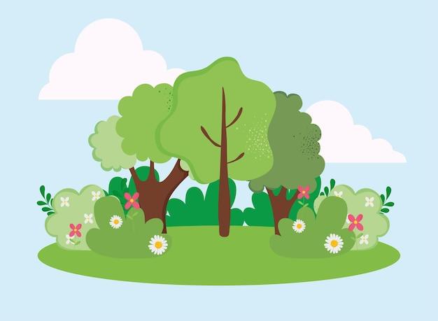 숲과 정원 자연 현장