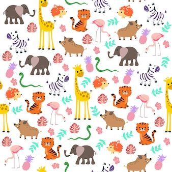 Forest animal pattern