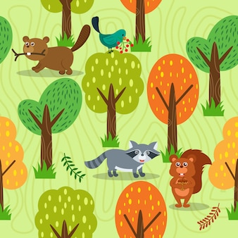 Forest background design