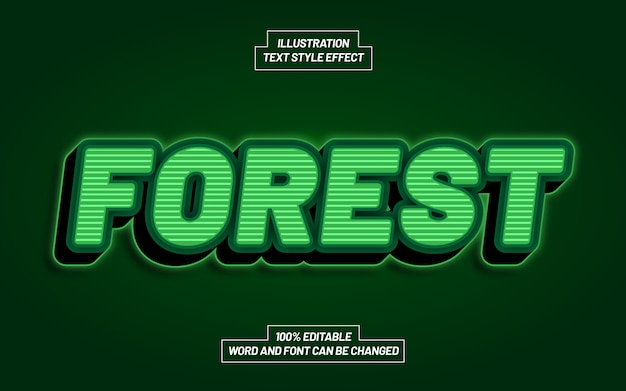 Forest bold text style effect