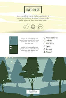 Forest brochure infographic
