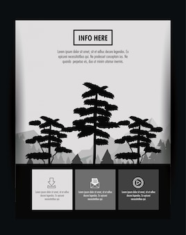 숲 브로슈어 infographic