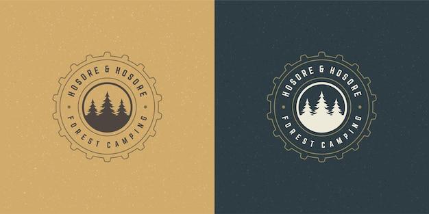 숲 캠핑 로고 상징 그림
