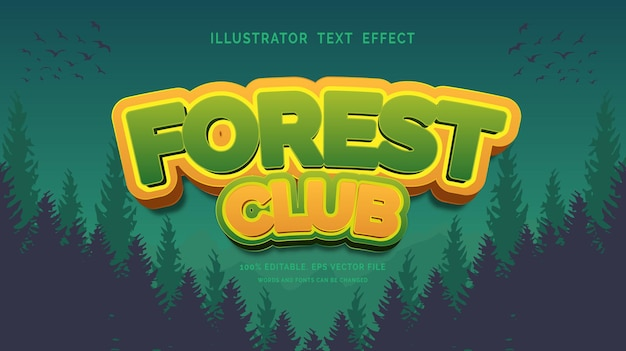 Forest club text effect