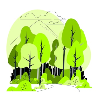 Иллюстрация концепции леса