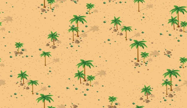 Forest desert pattern