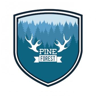 Forest design over  white background vector illustration