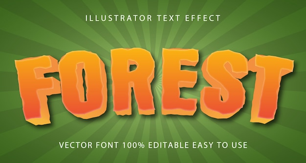 Forest  editable text effect