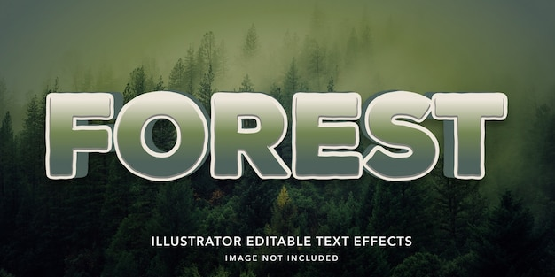 Forest editable text style effects