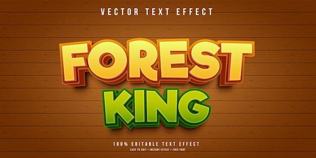 Редактируемый текстовый эффект лесного короля