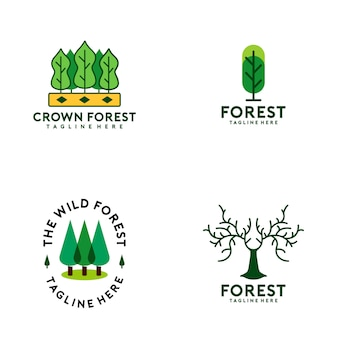 Forest logo collection