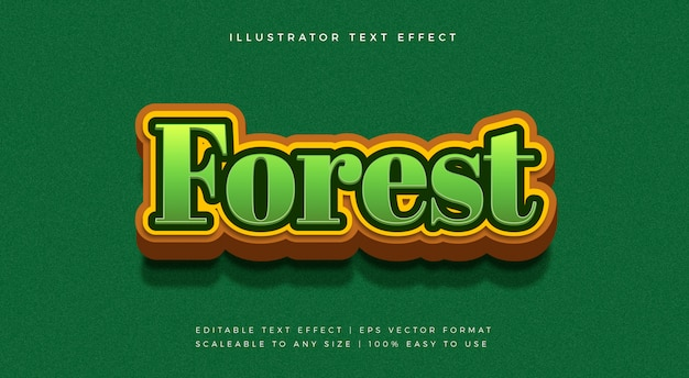 Forest nature text style font effect